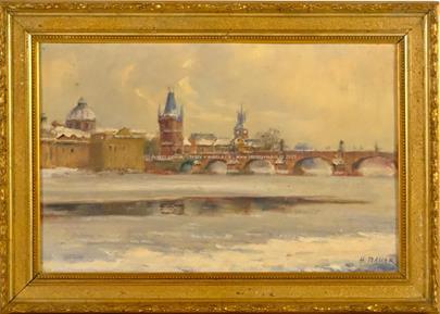 Hubert Bauer - Zimní Praha
