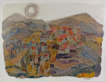 Dominik Wallenfels - Vesnička v horské krajině