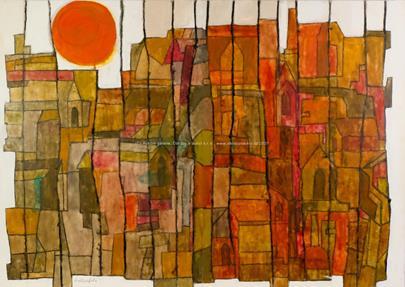 Dominik Wallenfels - Západ slunce nad městem