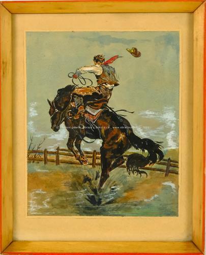 nesignováno - Krocení divokého koně