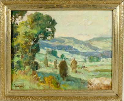 Václav František Ulšmíd - Pole na kraji lesa