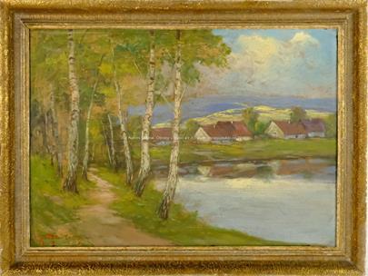 Gustav Reiter - Břízky u rybníka