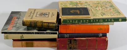 .. - Konvolut 14 německých knih
