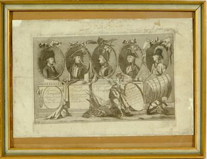nesignováno - První konzul Napoleon Bonaparte a jeho čtyři bratři