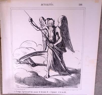 Honoré Daumier - Konvolut 2 grafických listů I.