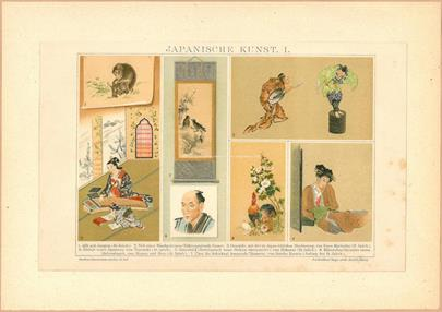 japonský umělec 19. stol. - Japanische Kunst I.
