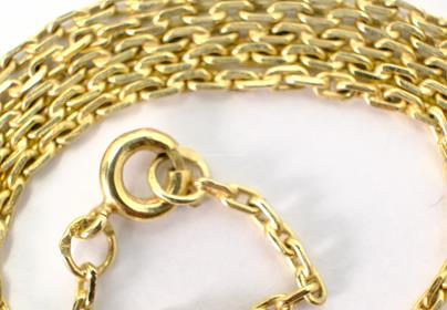 .. - Řetízek, zlato 585/1000, značeno platnou puncovní značkou čejka, hrubá hmotnost 8,40 g