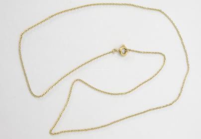 .. - Řetízek, zlato 585/1000, značeno platnou puncovní značkou čejka, hrubá hmotnost 1,70 g