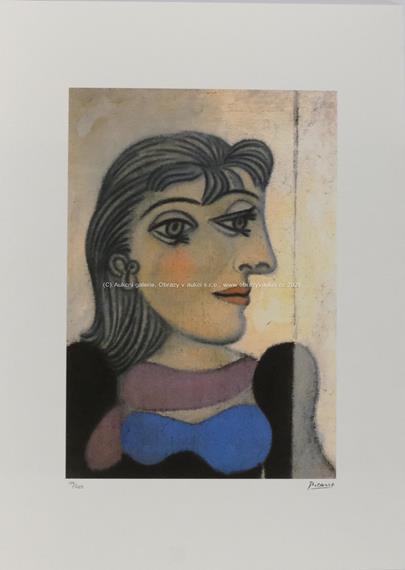 Pablo Picasso - Žena v modré a fialové