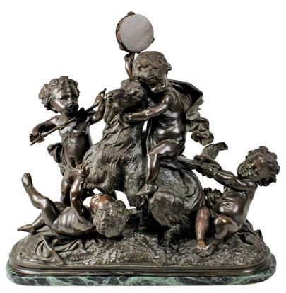 Albert Ernest Carrier-Belleuse - Hrající putti s kozlíkem