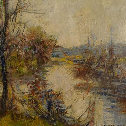 Alois Kalvoda - Vrby u řeky