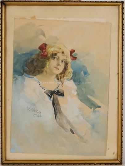 Karel Rélink - Dívka s červenými mašlemi
