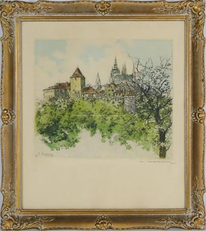 Vladislav Röhling - Motiv s Pražským hradem