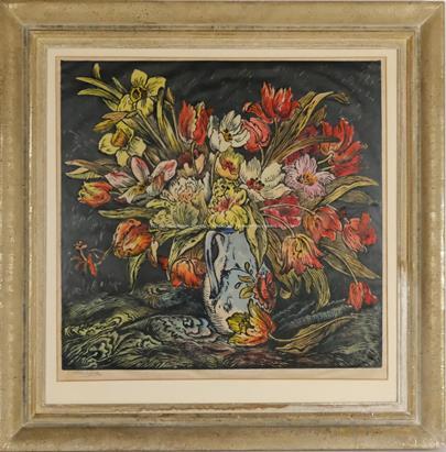 Václav Hejna - Zátiší s květinou