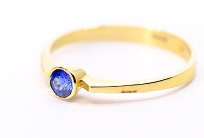.. - Prsten, zlato 585/1000, hrubá hmotnost 2,05 g