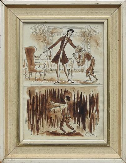 Cyril Bouda - Dvě ilustrace