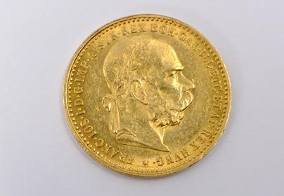 .. - Rakousko Uhersko zlatá 10 Koruna 1896 rakouská. Zlato 900/1000, hrubá hmotnost mince 3,387g