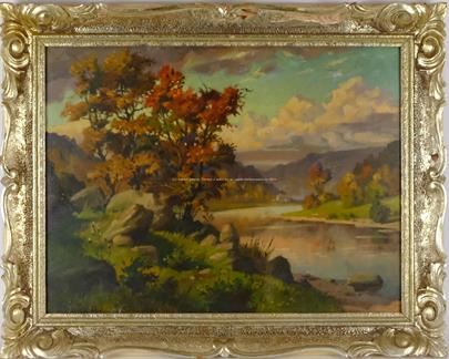 František Pergler - Krajina u řeky