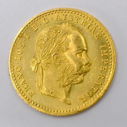 .. - Rakousko Uhersko zlatý 1 dukát 1881. Zlato 986/1000, hrubá hmotnost mince 3,491g