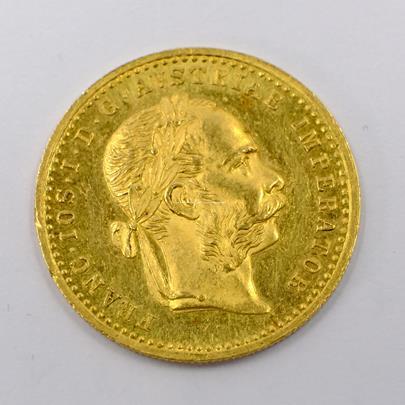 .. - Rakousko Uhersko zlatý 1 dukát 1914. Zlato 986/1000, hrubá hmotnost mince 3,491g,