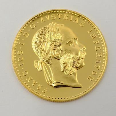 .. - Rakousko Uhersko zlatý 1 dukát 1915 pokračující ražba. Zlato 986/1000, hrubá hmotnost mince 3,491g