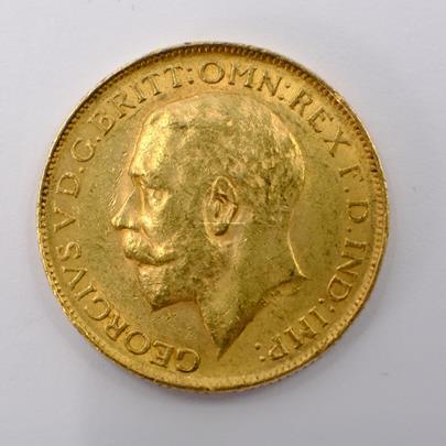.. - Velká Británie zlatý Sovereign GEORGE V. 1926. Zlato 916,7/1000, hrubá hmotnost 7,99g
