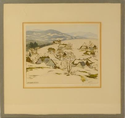 Jaromír Stretti - Zamponi - Zasněžené chalupy v kopcích