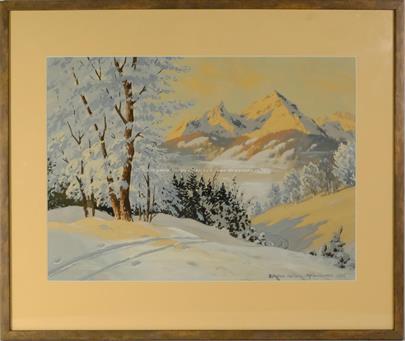 Erich Spörl - Zimní ráno v Berchtesgaden