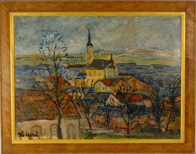 František Záleský - Pohled na město
