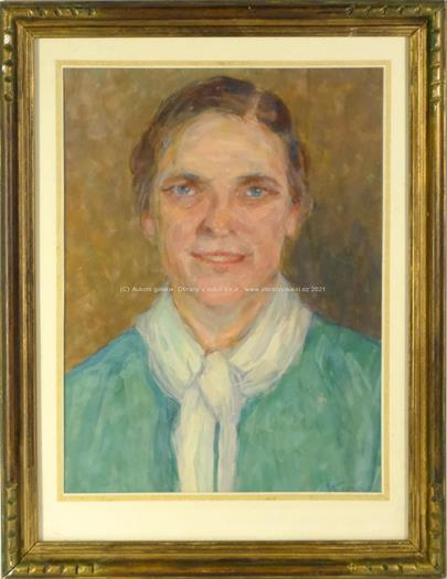 signatura nečitelná - Portrét ženy