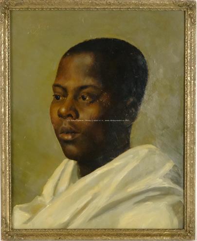 Josef Hübner - Portrét afrického chlapce
