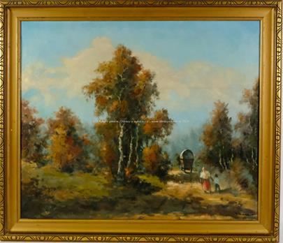 Václav Vaner - Povoz v podzimním lese