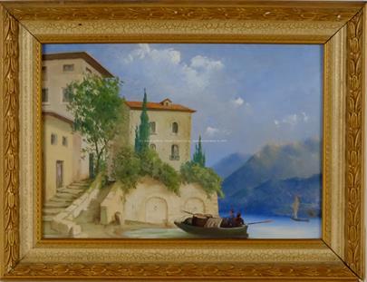 středoevropský malíř přelomu 19. a 20. stol. - Na jižním pobřeží