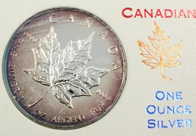 .. - 1993 Canadian 5 Dollars  Maple Leaf, stříbro 999/1000 hrubá hmotnost 31.1g