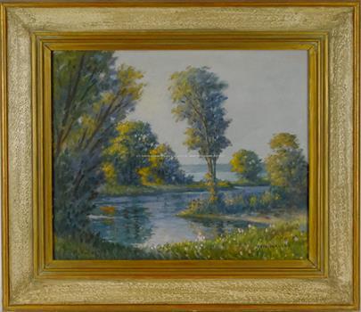signováno nečitelně - Podzimní rybník