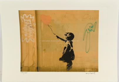 Banksy - Girl with Baloon (Dark)