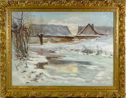 Luděk Pešek - Zimní krajina