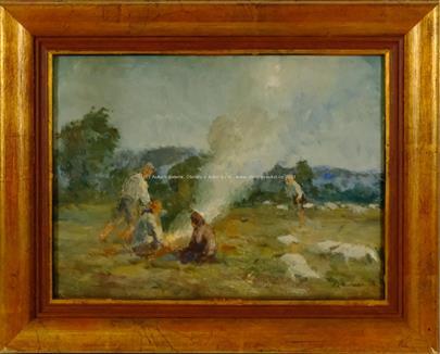 Ota Moravec - Pálení bramborových natí