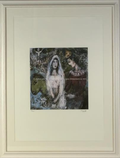 Marc Chagall - Nevěsta s pierotem