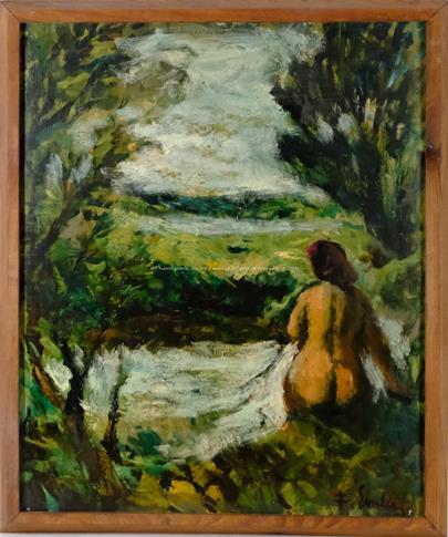 František Emler - Dívčí akt v přírodě