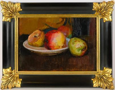 Alfréd Justitz - Zátiší s jablky