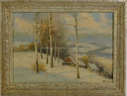 Jaroslav Trinkmoc - Zimní chalupy pod břízkami