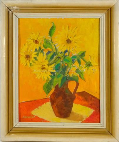 signováno nečitelně - Žluté květy