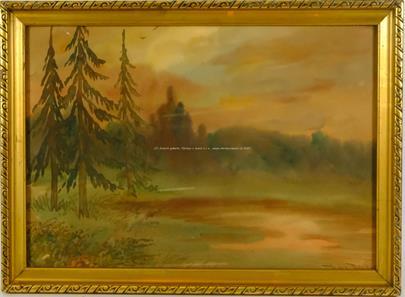Jindřich Příhoda - Soubor 2 prací - Podvečer u lesa