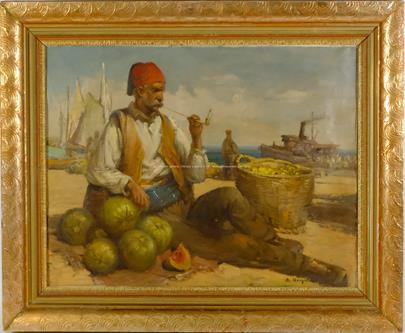 Bohumil  Horyna (Gottlieb Berghauer) - Prodavač melounů