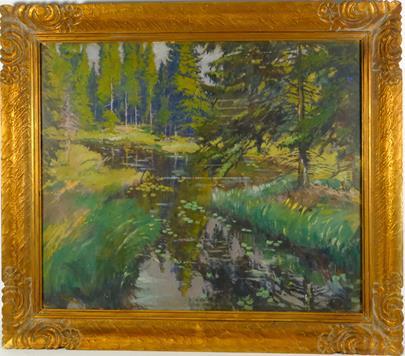 signatura  nečitelná - Potok podél lesa
