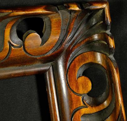.. - Dřevěný vyřezávaný rám