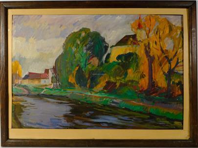 František Volf - Stromy u řeky