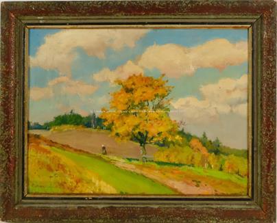 Čeněk Choděra - Babička v podzimní krajince
