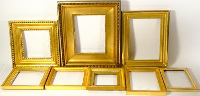 .. - Konvolut 7 zlacených rámečků